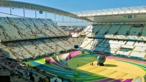 Арена Корінтіанс перед церемонією відкриття Чемпіонату світу